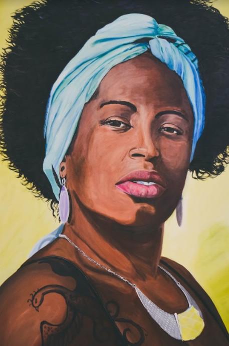 Zaíra, acrílica sobre tela (obra de Alejandro Ruiz)