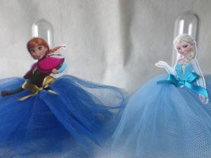 Tubete com saia de Tule Anna e Elsa