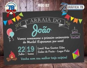 Convite Chalkboard Festa Junina