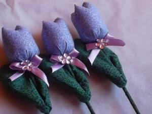 Como vender artesanato pela internet tulipa de tecido