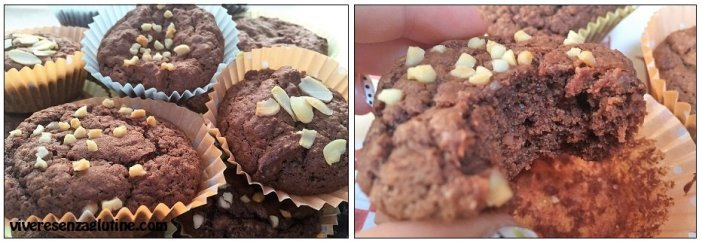 Gluten-free cupcakes with almonds and chocolate