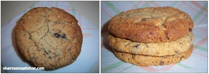 Cookies cioccolato e nocciole senza glutine