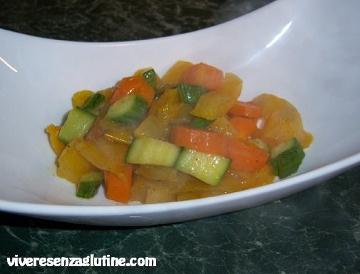 Gluten-free mixed vegetables in a pan