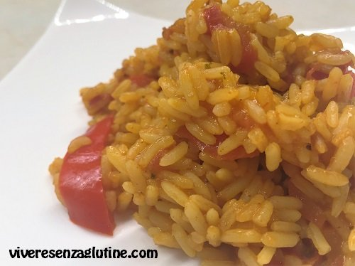 Gluten-free peppers and saffron risotto
