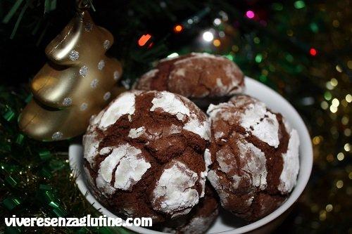 Gluten-free Chocolate Crinkles cookies