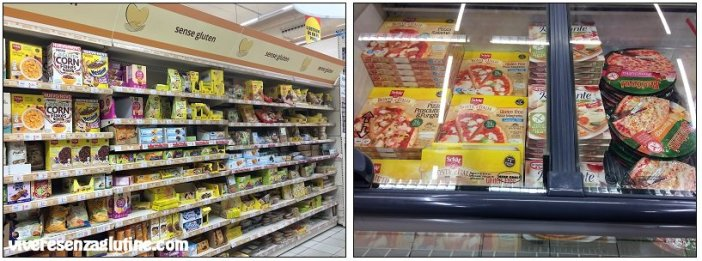 Supermarkets and shops with gluten-free products in Barcelona