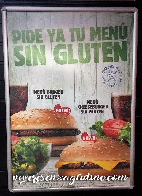 Burger King gluten-free in Spain