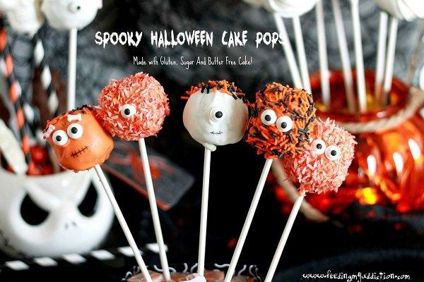 Spooky Halloween Cake Pops Gluten-free