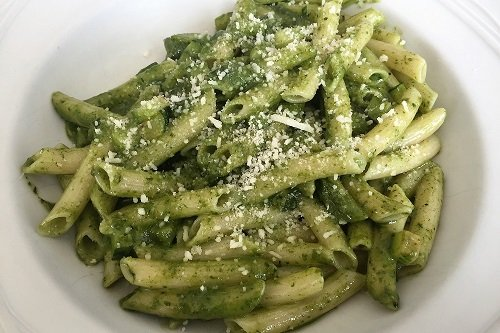 Tu! Pasta Madrid - Gluten-free pesto and zucchini pasta
