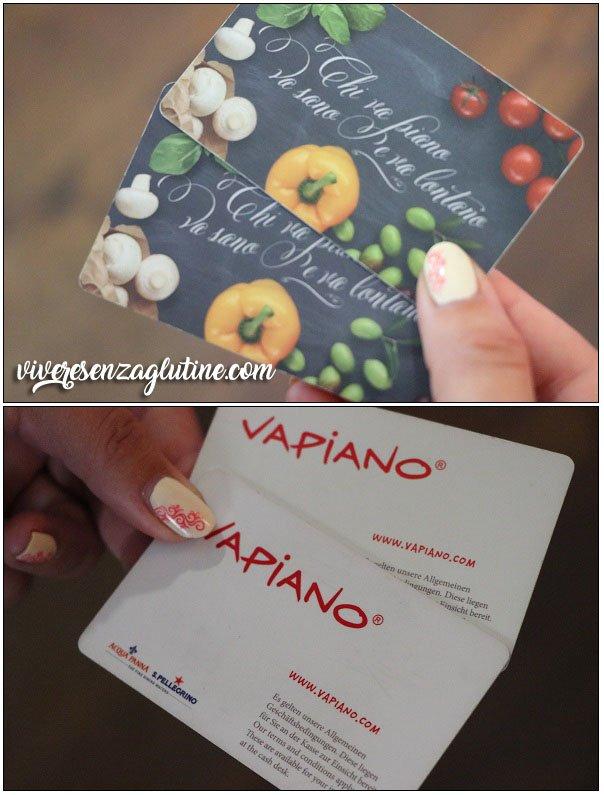 VAPIANO gluten-free cards