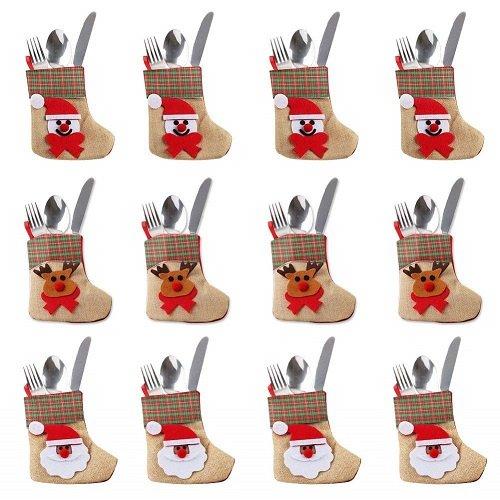 Portaposate: calze di Natale con pupazzi di neve, babbo Natale e renna