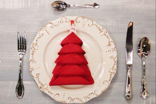 Tovagliolo ad albero di Natale