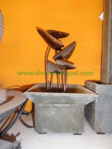 Fuente de piedra natural de mesa Plant