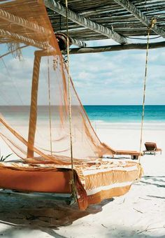 Cama colgante playa
