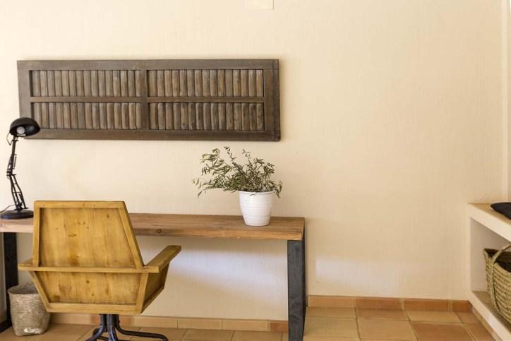 escritorio hierro y madera