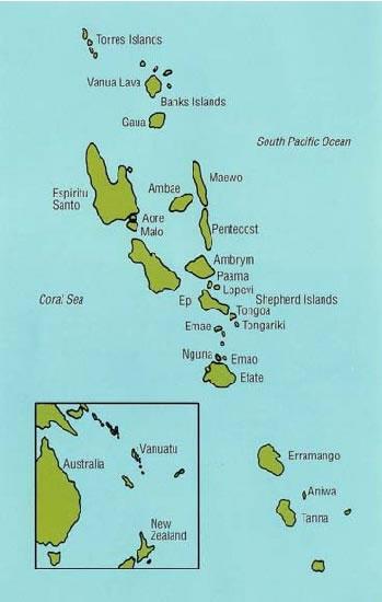 Map of Vanuatu