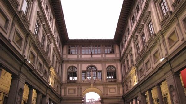 Outside Uffizi Gallery