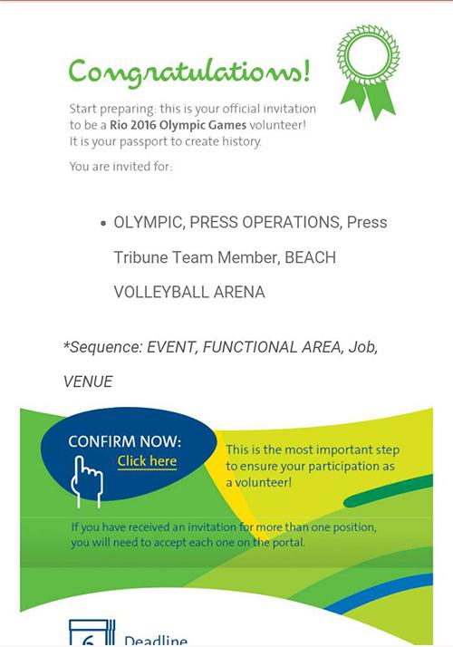 Rio invitation letter