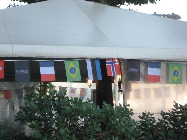 Estonian flag ijn Rio