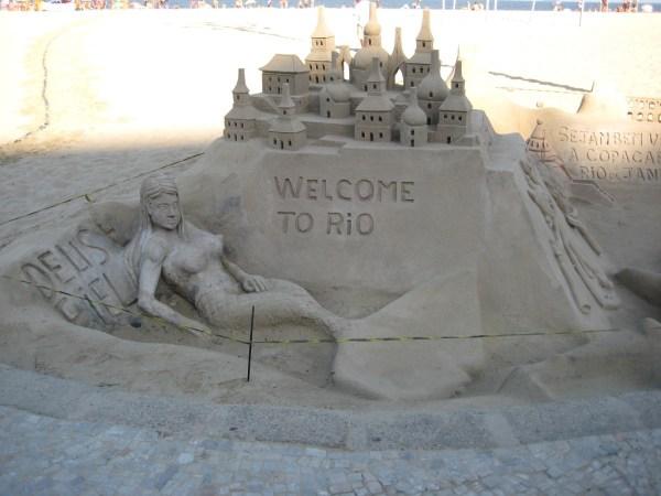 Sandcastles in Copacabana