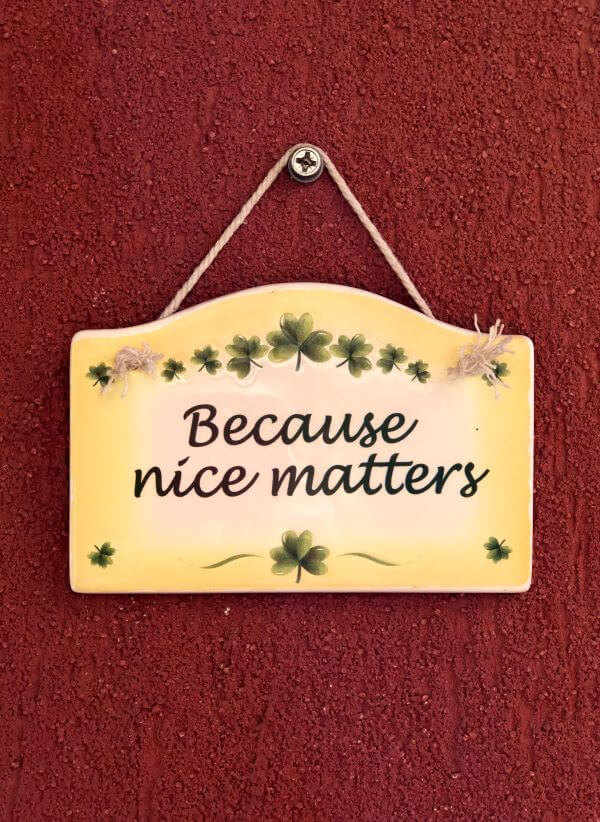 By being nice you offer something wonderful to the world. Practice mindfulness and compassion and you will change the life of everyone around you. Because NICE matters.