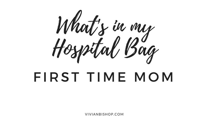 What's in My Hospital Bags (First Time Mom)