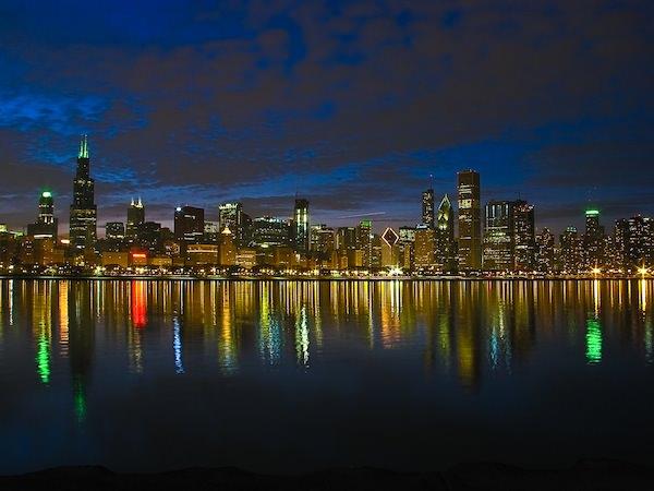 Lo Skyline dei grattacieli di Chicago