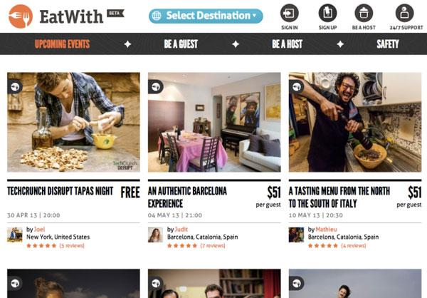 EatWith, la community per trovare amici e inviti a cena