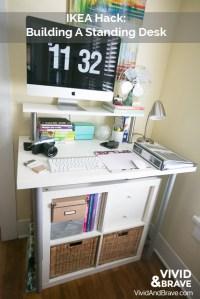 IKEA Hack Standing Desk | Vivid & Brave