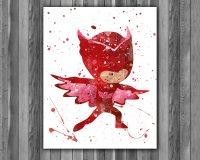 PJ Masks Print, PJ Masks Painting, PJ Masks Art, Pj Masks ...