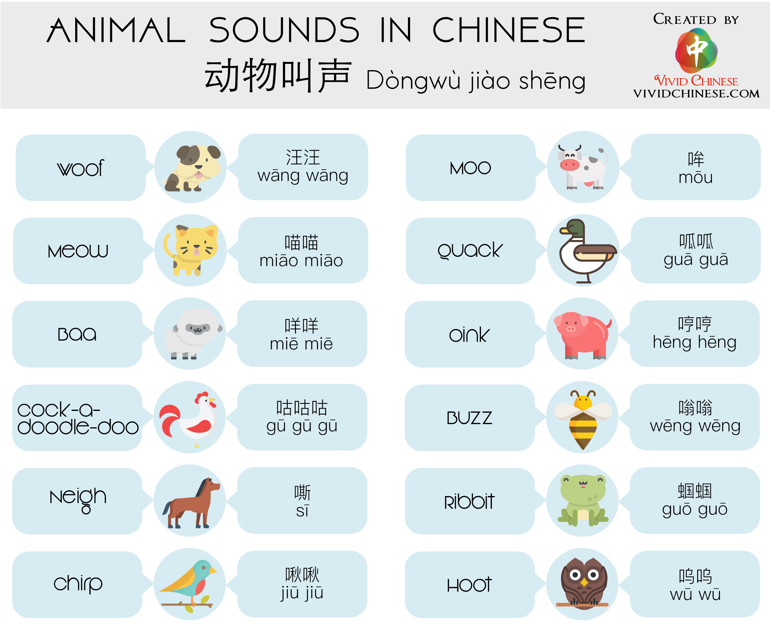 Animal Sounds In Chinese