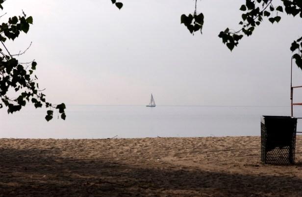Lake and sailboat