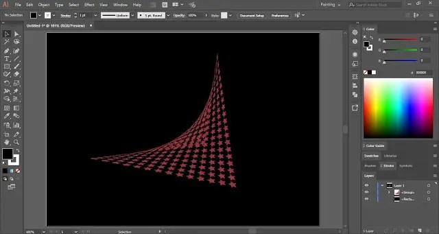 Distort Shapes in Adobe Illustrator