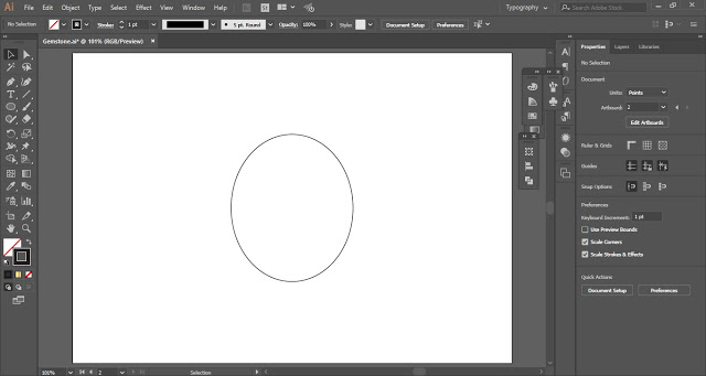 draw an oval shape