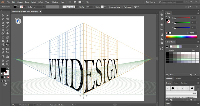 Wrap Text around Perspective Grid