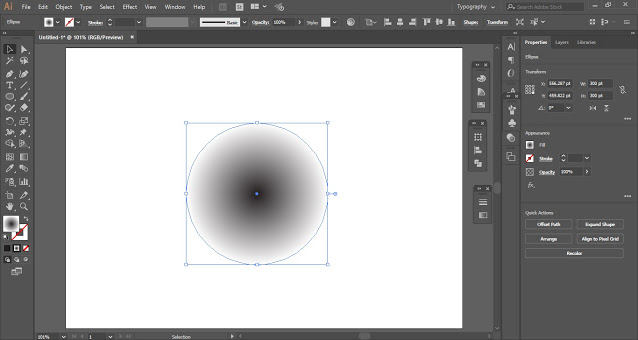 Fill the circle with radial gradient