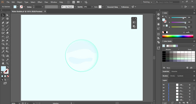 Water Bubble in Adobe Illustrator