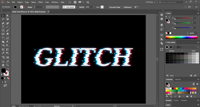 Glitch Text Effect in Adobe Illustrator