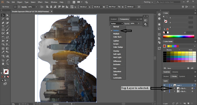 Double Exposure Portrait Effect in Adobe Illustrator