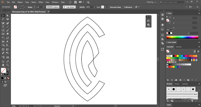 Monogram Logo in Adobe Illustrator