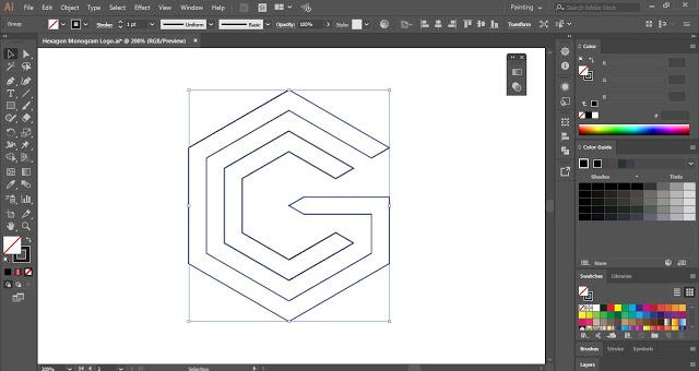 3D Blend Text Effect in Adobe Illustrator