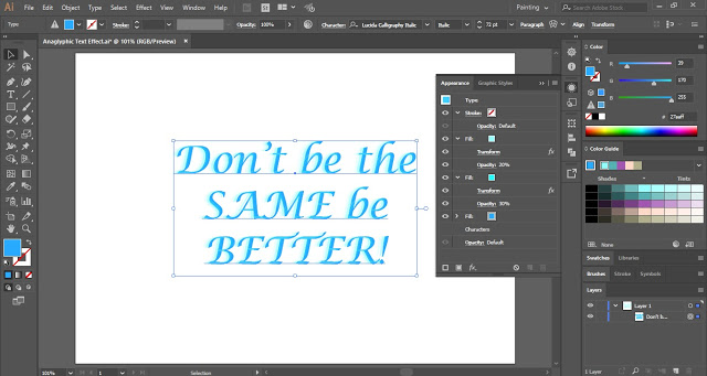 Anaglyphic Text Effect in Adobe Illustrator
