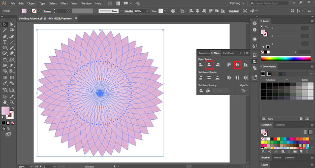 Align Panel in Adobe Illustrator