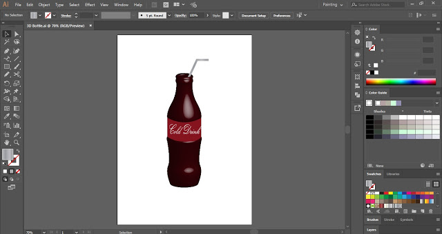 3D Bottle in Adobe Illustrator