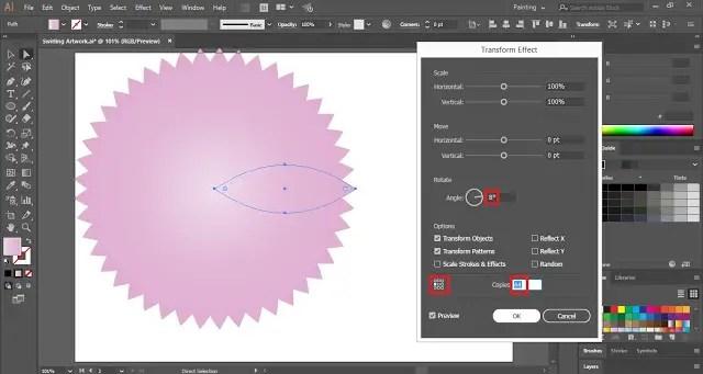 Transform Effect in Illustrator