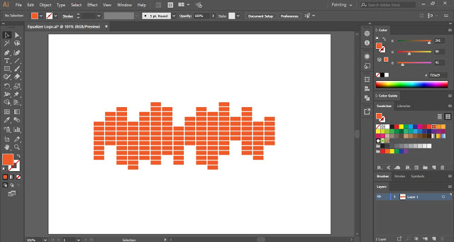 Equalizer Logo in Adobe Illustrator