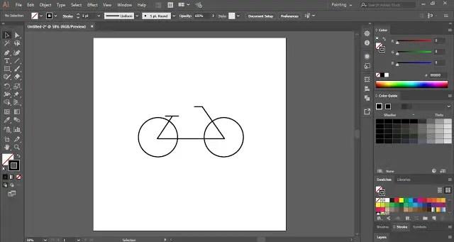 Flat Cycle in Adobe Illustrator