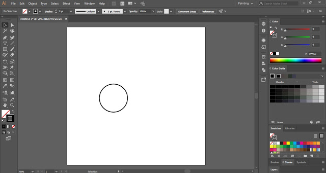 draw a circle for cycle