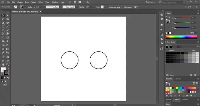 create duplicate copy of the circle