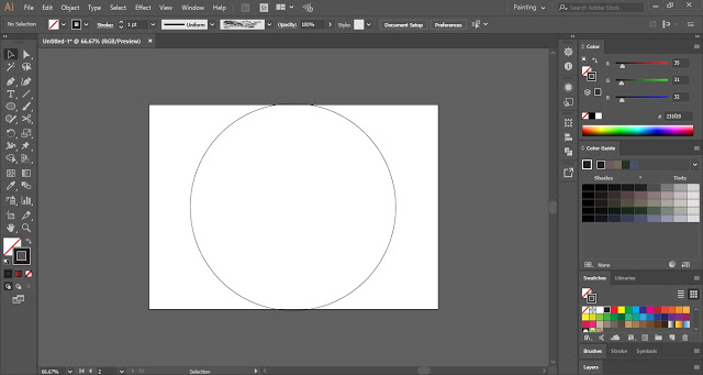 draw a circle in illustrator